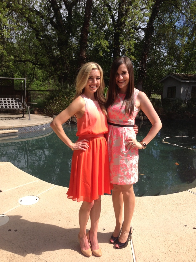 The gorgeous bride-to-be and I were color coordinated!