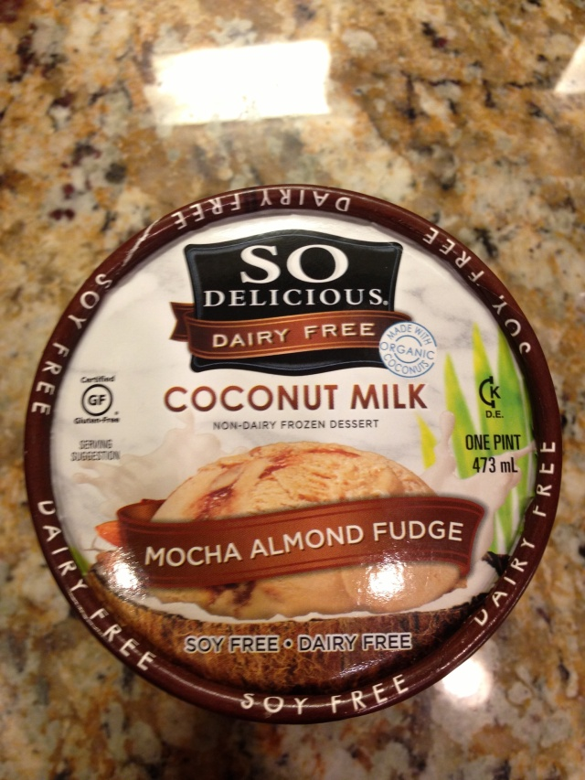 My first time trying coconut milk ice cream and it was DELISH!