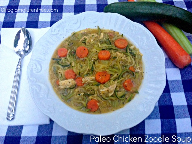 Paleo Chicken Zoodle Soup GGGF