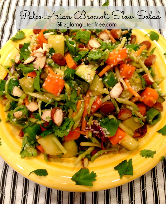 Paleo Asian Broccoli Slaw Salad